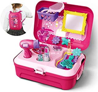 Gizmovine Girls Pretend Play Makeup Set for Children, Kids Make it Up for Little Girls Princess Toys for Toddlers Girl 2 3 4 5 6 Year Old