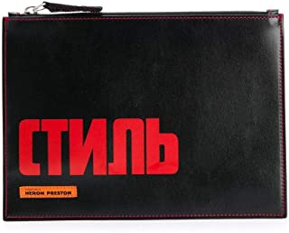 Luxury Fashion | Heron Preston Mens HMNA014F198330221021 Black Clutch | Fall Winter 19