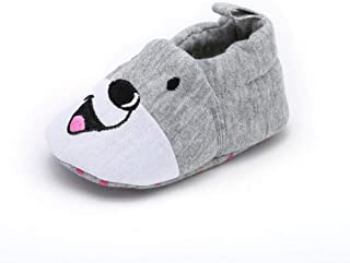 Respctful✿Baby Shoes Girl 12 18 Months Non-Slip Soft First Walker Shoes ler Newborn Cute Animal Leather Infant Shoes