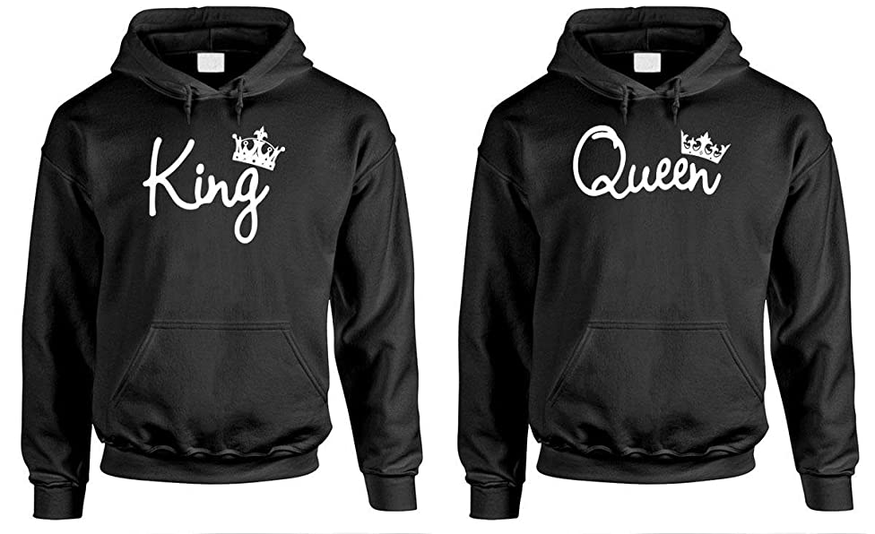 King Queen - Couples Two Hoodie Combo Pack