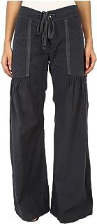 XCVI Women's Willowy Wide Leg Stretch Poplin Pant Charcoal Pants MD (Women's 8-10) X 32
