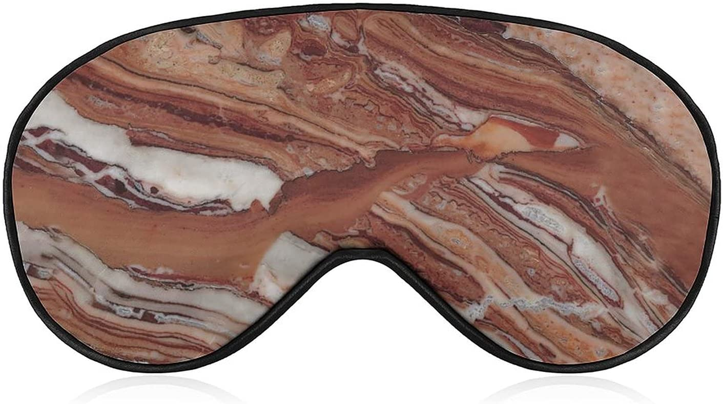 DGHREAW Marble Weighted Eye Mask Sleep Albuquerque Mall Head Adjustable Blindfold Ranking TOP7