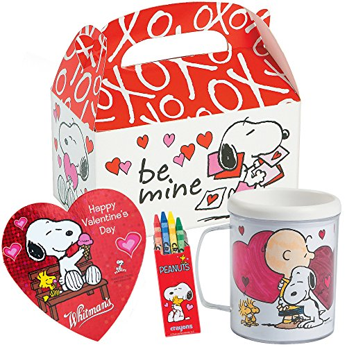 Best Review Of Peanuts Snoopy Valentines Day Gift Basket | Snoopy DIY Color Your Own Mug, Peanut The...