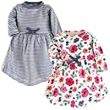 Touched by Nature Girls' Organic Cotton Short-Sleeve Dresses, Garden Floral, 2-Toddler