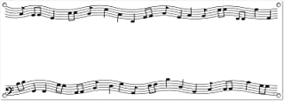 """Beistle Musical Notes Sign Banner, 5' x 21"""","""