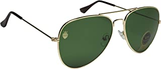La Victorie Aviator UV Protected Unisex Green Sunglasses