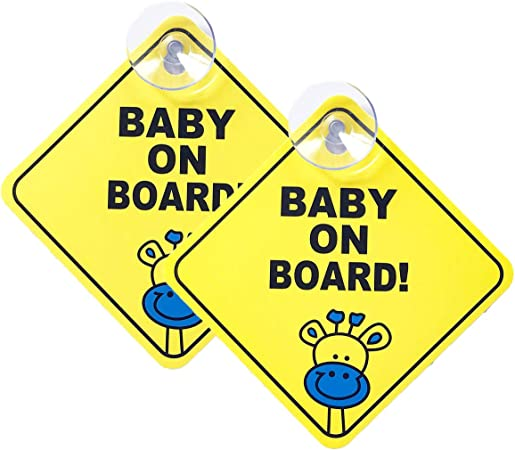 Meowoo Baby On Board Sticker With Suction Cup Child Car Camera Photo