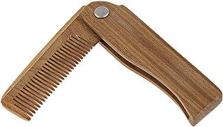 Baosity 木製櫛 ヘアブラシ ヘアコーム ミニサイズ 多機能櫛 ひげ櫛 櫛 折り畳み式 2タイプ選べる - B