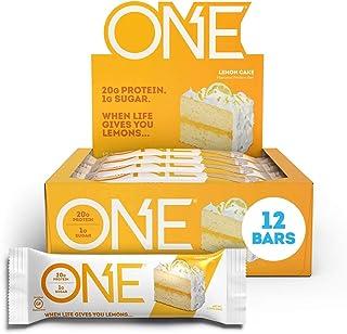 Sponsored Ad - ONE Protein Bars, Lemon Cake, Gluten Free Protein Bars with 20g Protein and only 1g Sugar, Guilt-Free Snack...
