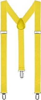 Boolavard Braces Men Women suspenders Y shape Style Clips narrow neon colored