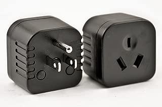 Australia, New Zealand, China Plugs to USA/Canada Outlet Plug Adapter (Australia to USA/Type I)