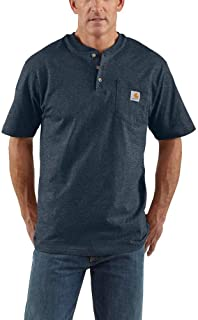 Men's Workwear Pocket Short Sleeve Henley Midweight...