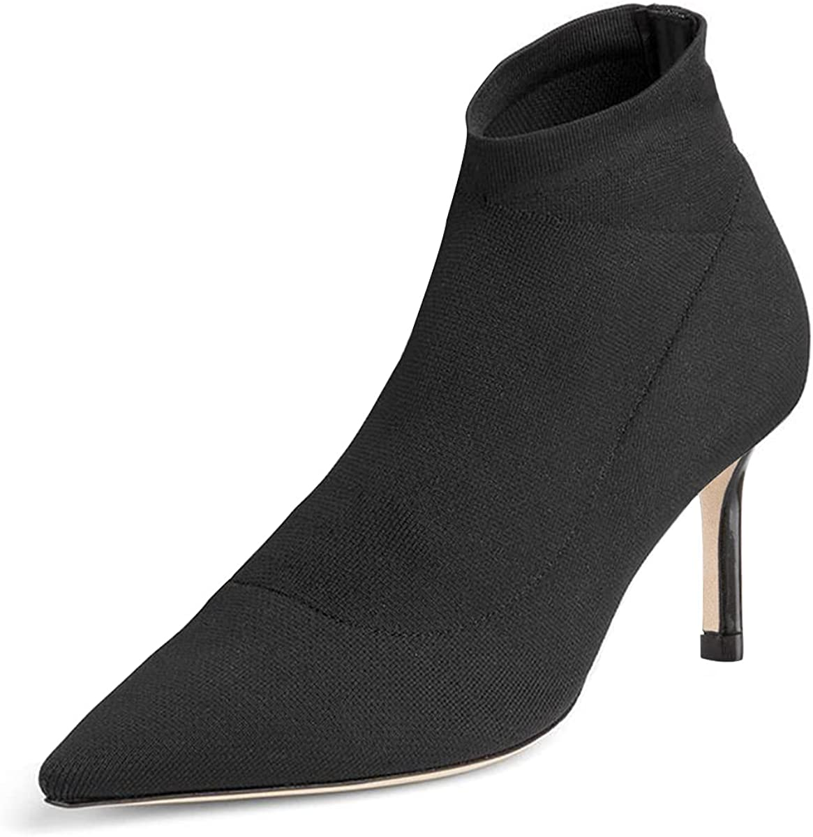 PORCLAY Women's High Heeled Year-end annual account Ankle Booties Sexy Ranking TOP1 T Pointed