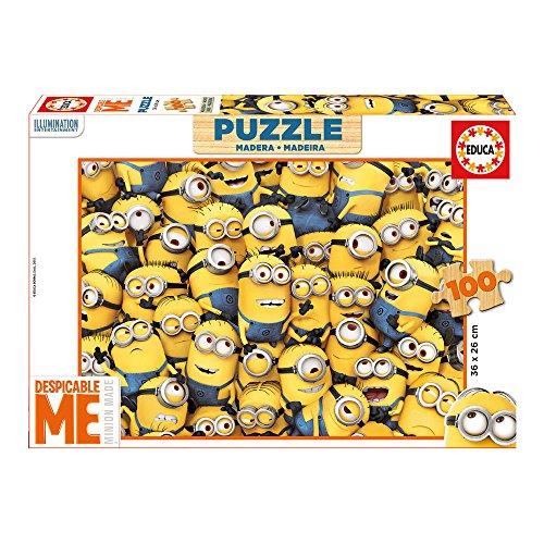 Puzzles Educa - Puzzle de 100 Piezas, con diseño Minions (16528)