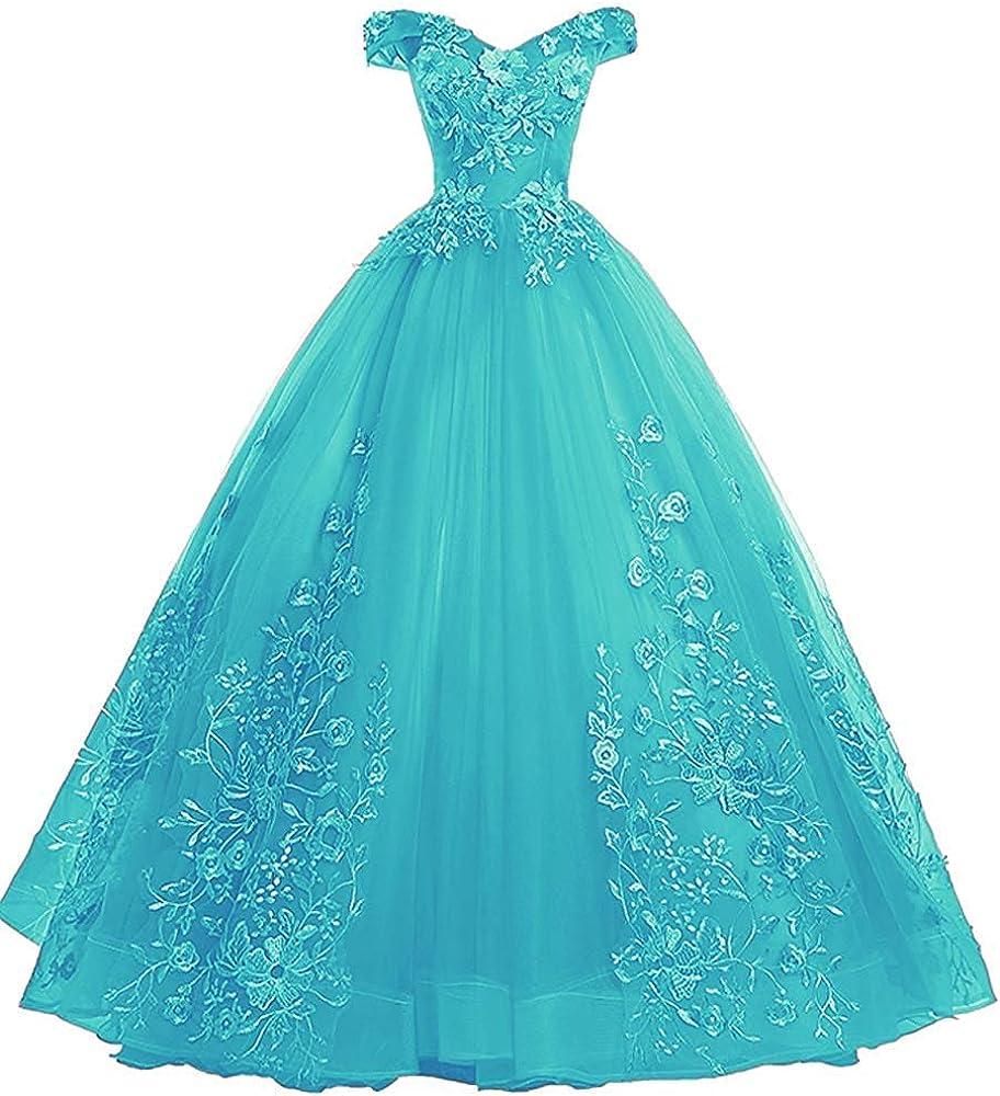 Prom Dress Lace Quinceanera Dress Off Shoulder Evening Dresses A Line Quinceanera Prom Dresses Appliques