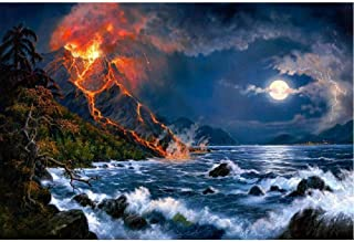 BJBJBJ 1000 Pieces of Wooden Puzzles Adult Jigsaw Puzzle Volcano Moon Sidi Leisure Time Home Decoration Creative Art