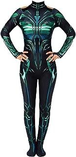 Hela Costume Halloween Cosplay Jumpsuit Bodysuit for Women Girls