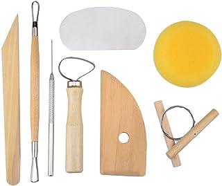8 Pcs Set Clay Wax Pottery Tool Kit Ceramics Wax Carving Sculpting Moldeling Tools