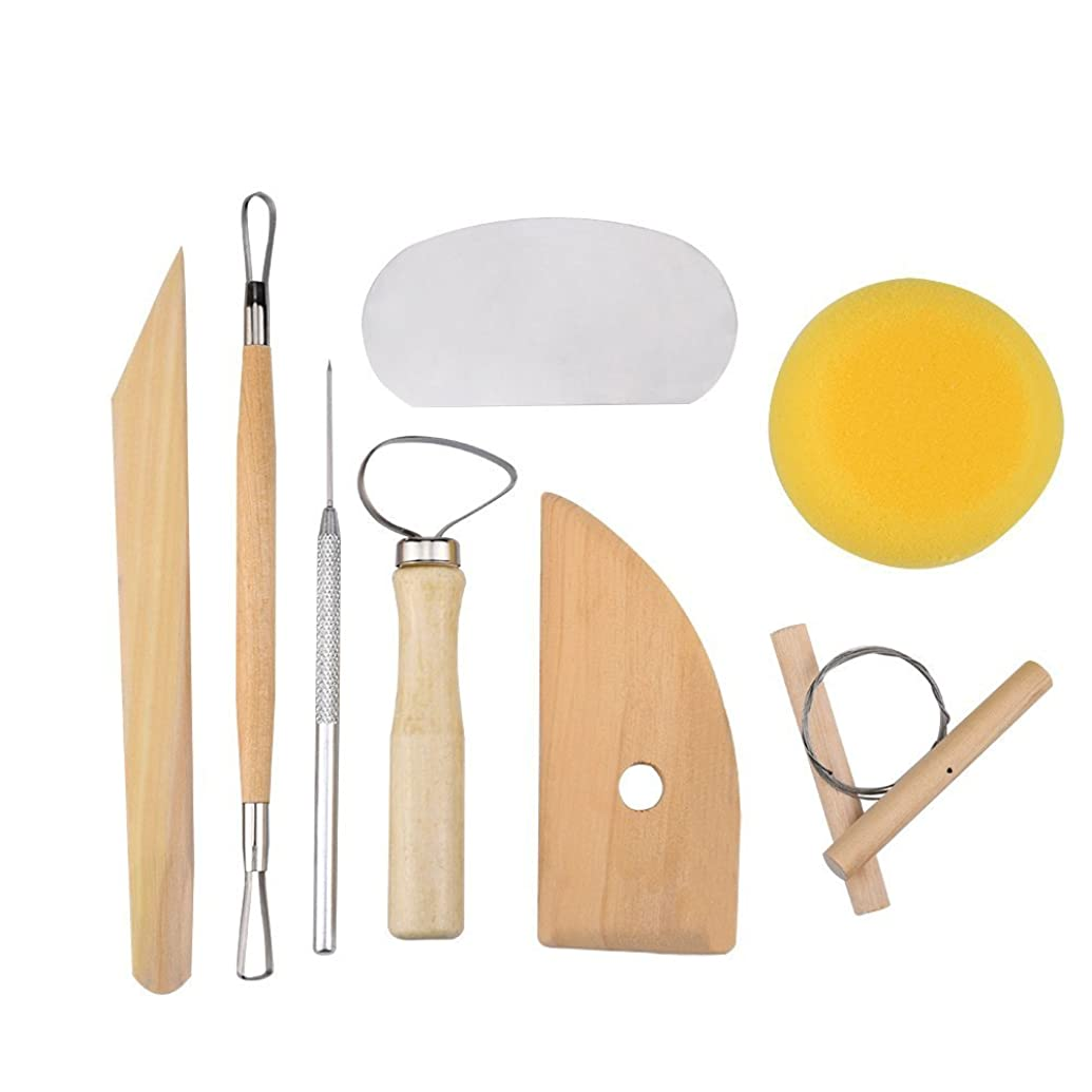 8 Pcs SET Clay Wax Pottery Tool Kit Ceramics Wax Carving Sculpting Molding Tools