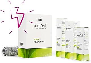 purePeel AHA-Fruchtsäure-Peeling/Power Treatment Box/Gesichtsreinigung, Gesichtspeeling, Gesichtspflege bei Aknenarben, Pigmentflecken, Groben Poren, Verhornungsstörungen & Fältchen