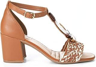 Sandália com calcanhar fechado Dakota Salto Médio Pedrarias feminino