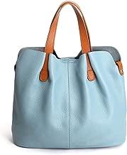 Genuine Leather Handbags Head Layer Cowhide Litchi Grain Women Handbags Shoulder messenger Bags Composite Bags