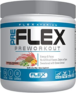 Flexatarian Pre-Flex, All-Natural Preworkout Formula, Tropical Thunder, 30 Servings