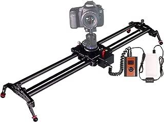 ASHANKS Motorized Camera Slider with Controller, Timelapse and Focus Track Shot Video Recording for DSLR Cameras. 80cm/31