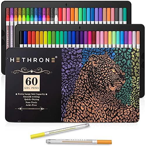 Gel Pens - Hethrone 60 Pack Colored Gel Pen with...