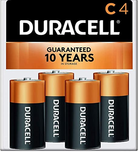 Duracell - CopperTop C Alkaline Batteries with recloseable package - long lasting, all-purpose C battery for househol...