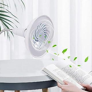 Lhuaguo 2 en 1 ventilador de mesa, ventilador de techo con luz LED, se utiliza para el mercado de noche de la oficina doméstica
