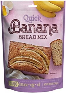 Sponsored Ad - Just Add Quick Banana Bread Mix, Simple Ingredients, 10.93 Ounce (Pack of 12)