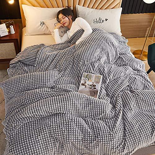 Baixtuo coperte letto matrimoniale da letto Coperte Super Morbido In Peluche per Letto / Divano / sedie Multifunzionale in per Tutte Le Stagioni Ultra Morbida & Comfo (grigio, 200x230)