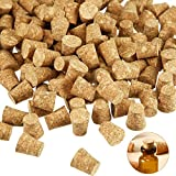 350 Pieces Small Cork Stoppers Mini Glass Bottles Cork Tops Mini Cork Stoppers Tapered Cork Bottle Plugs for DIY Craft Projects (0.4 x 0.3 inches)