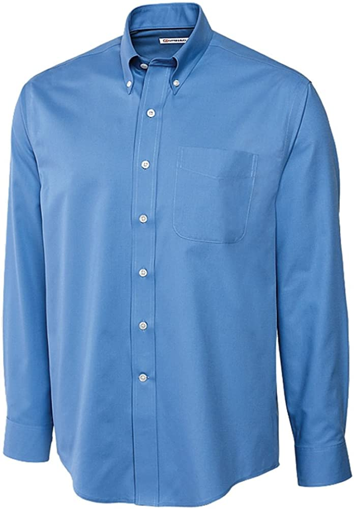 Cutter & Buck Big and Tall Epic Fine Twill Sport Shirt (1XTall, Atlas)