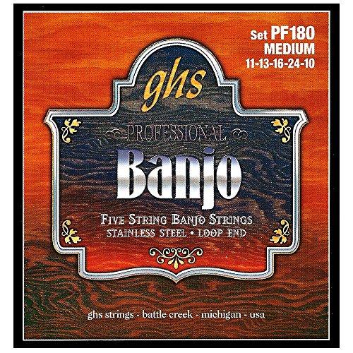 GHS PF 180 Banjo M Acero Inoxidable 5-cuerdas (lazo