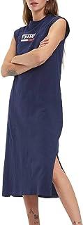 فستان بدون أكمام بشعار تومي جينز