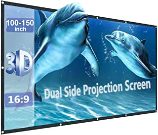 150inch Projector Screen Portable Foldable for LED Projectors(CiBest/VANKYO/GooDee/QKK/APEMAN...)