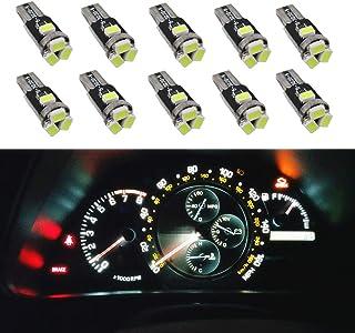 Toolmore 10X coche T5 5050 bombillas de LED SMD 1 Dashboard Blanco lampara de luz 74 37 286 18 27 12v