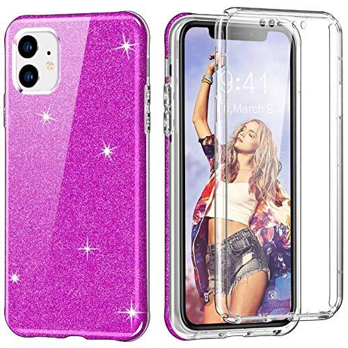 Coque iPhone 11 Case bling Etui Transparente Silicone Gel TPU Souple Silicone Ultra-Mince Transparente Protecteur Cover pour iPhone 11 (2)