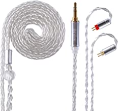 Better Upgraded Silver Plate Replacement Cable,8 Core Headset Braided Silver Plated Wire Upgrade Earphone Cable for AS10 ZS4 ZS5 ZS6 ZS10 ES4 ZST ZSR ED16 TRN V80 V20 V60 TFZetc(Silve-2PIN 3.5mm)