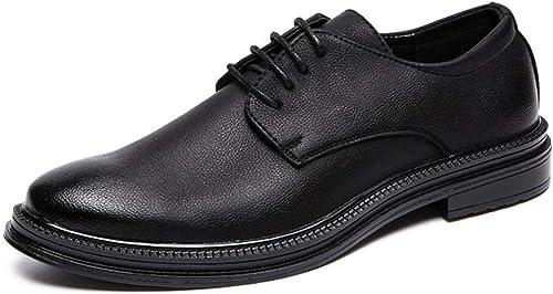 Ryryrb Zapaños informales de Brock para hombres de negocios informales, zapaños de vestir para hombres con zapaños plaños clásicos de Oxford, zapaños formales para hombres modernos. Zapaños casuales s