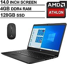 2020 Newest HP 14 Inch Premium Laptop, AMD Athlon Silver 3050U up to 3.2 GHz, 4GB DDR4 RAM, 128GB...