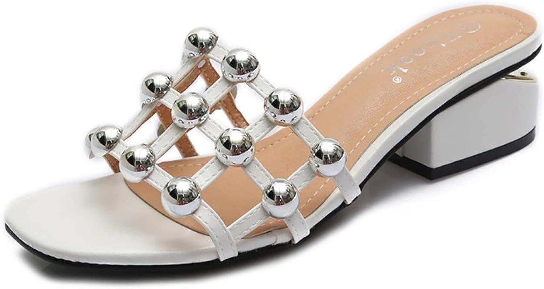 New Checkered Rivets Women sandals Summer shoes woman Fashion high heels Gladiator women sandals