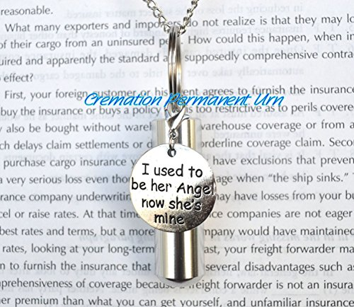 Collier de crémation « I was be angel », « I used be angel funmation, collier pour cendres, collier souvenir, bijoux perdus.