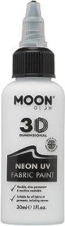 Moon Glow - Pintura de Tejido neón UV - 30ml - Blanca