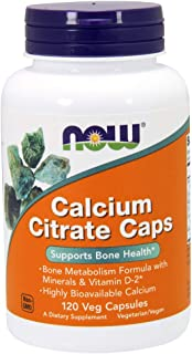 Now Supplements, Calcium Citrate with Vitamin D, Magnesium, Zinc, Copper, and Manganese, 120 Veg Capsules