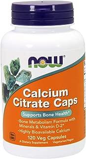 NOW Foods - 钙枸橼酸盐盖帽 - 120 素食胶囊