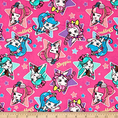Springs Creative Products 0546158 Disney Moose Shoppies Heart Toss Multi Fabric by The Yard, Multicolor
