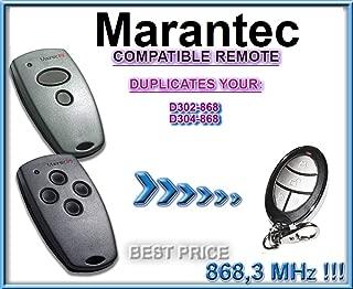 Marantec D302-868 / D304-868 compatible CLONE remote control replacement transmitter, 868.3Mhz fixed code clone!!!